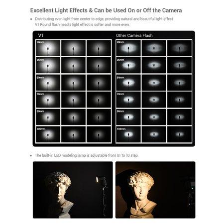Godox V1F Professional Camera Flash Speedlite Speedlight Round Head Wireless 2.4G for Fuji Fujifilm X-Pro2 X-T20 X-T2 X-T1 GFX50S GFX50R Cameras for Wedding Portrait Studio Photography - image 4 of 7