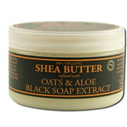 Nubian Heritage Shea Butter, Infused with Black Soap Extract, Oats & Aloe, 4 OZ