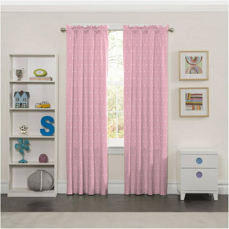Eclipse Tiara Print Blackout Girls Bedroom Curtain Panel](Pink Curtain)