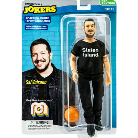 "Marty Abrams Presents, 8"" Mego Action Figure Impractical Jokers-Sal Vulcano  (Limited Edition Collector's Item)  (SDCC Debut)"