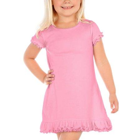 Girls Hot Pink Dresses (Kavio! Little Girls 3-6X A-Line Dress (Same P1C0340) Red)
