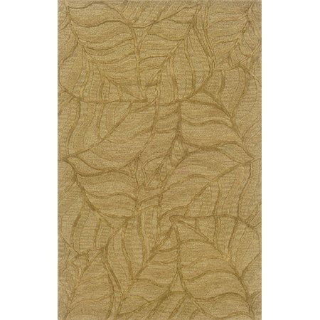 Sphinx Ventura Area Rugs - 18108 Country & Floral Gold Palms Tropical Leaf Leaves Rug