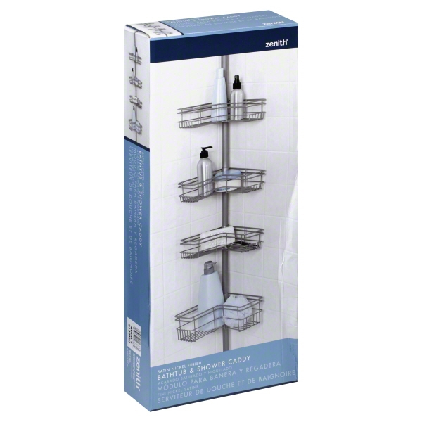 Tension Shower Caddy Nickel by Zenith