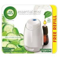 Air Wick Essential Mist Starter Kit (Diffuser + Refill), Fresh Cucumber, Essential Oils Diffuser, Air Freshener