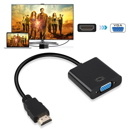 TSV HDMI to VGA Adapter, Gold-Plated HDMI Male to VGA Female Converter 1080P Video Cable for PC, Laptop, Projector, Monitor, Raspberry Pi, and Other HDMI Input Devices