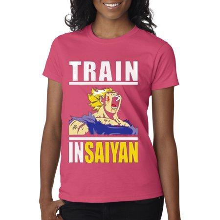 New Way 292 - Women's T-Shirt Train Insaiyan Gym Goku Dbz Dragon Ball Z - Funny Pimp