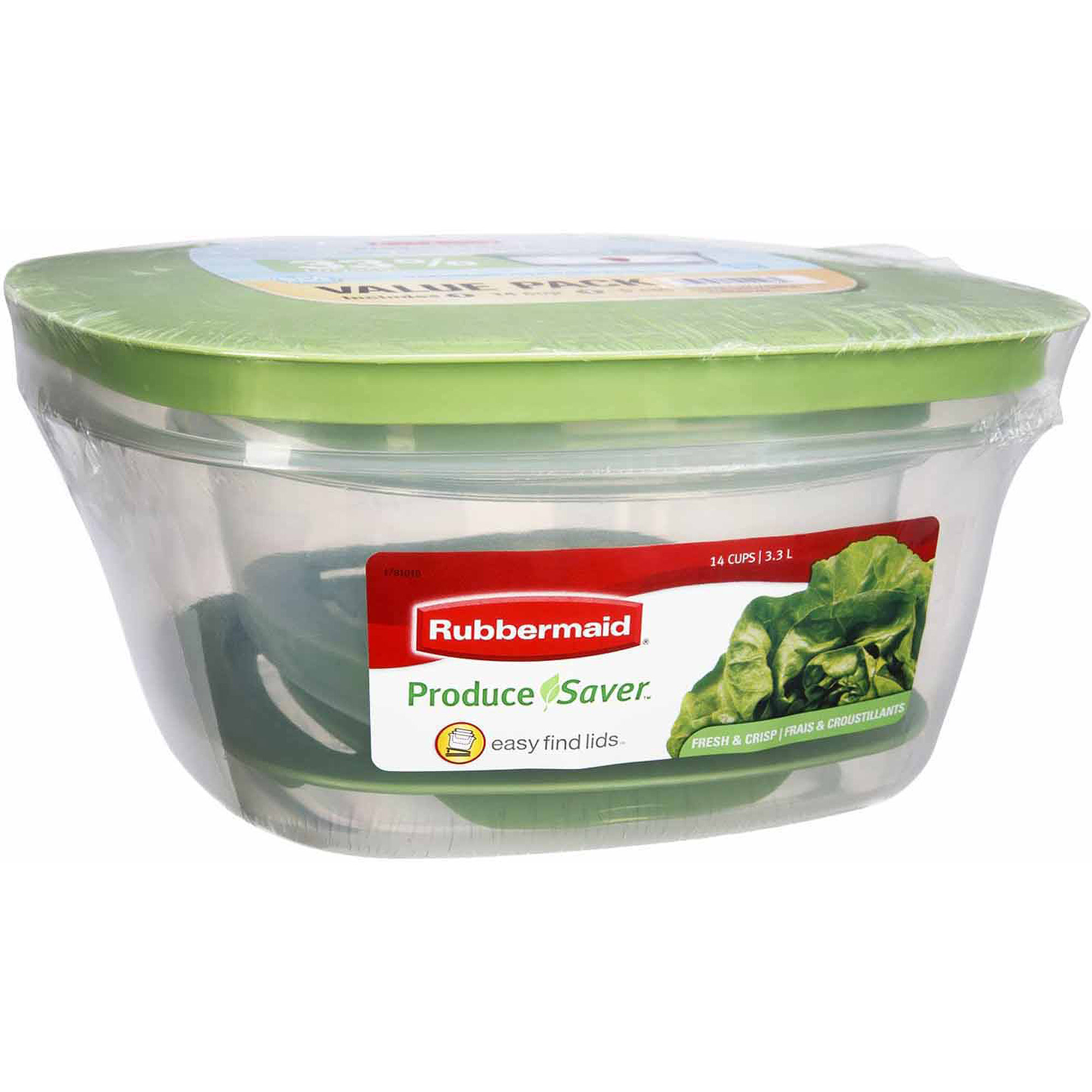 Rubbermaid Produce Savers, 14 Cup, 2pk