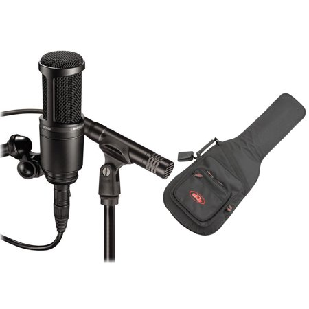 Audio Technica AT2041SP AT2020 + AT2021 Studio Condenser Microphones+Guitar Bag