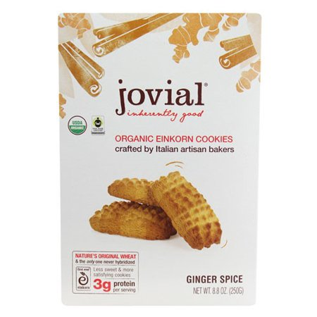 Jovial Ginger Spice Einkorn Organic Cookies, 8.8 Ounce (Organic Ginger Snaps)