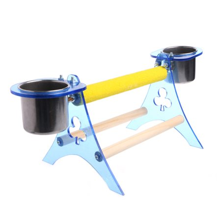 Play Perch - Parrot Perch Stand Platform Play Fun Toys Pet Wooden Cup For Bird Cage