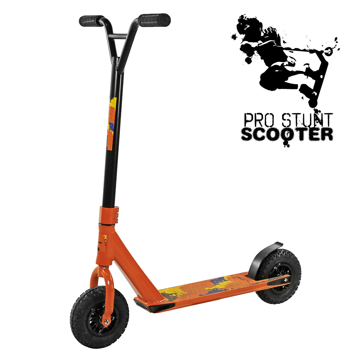 Xspec Aluminum Pro Stunt Dirt Kick Scooter Offroad All Terrain, Orange by Xspec