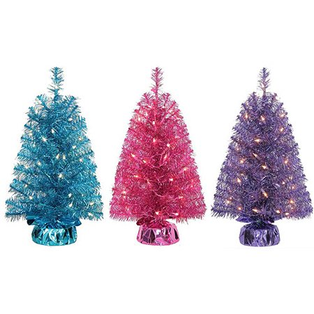 holiday time pre lit 2 noble fir mini artificial christmas tree pink