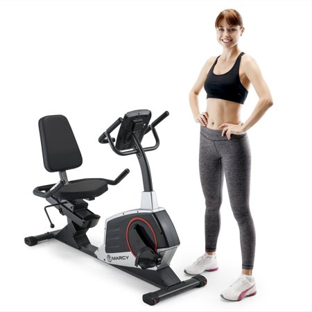 Marcy Regenerating Magnetic Recumbent Stationary Home Workout Exercise Bike
