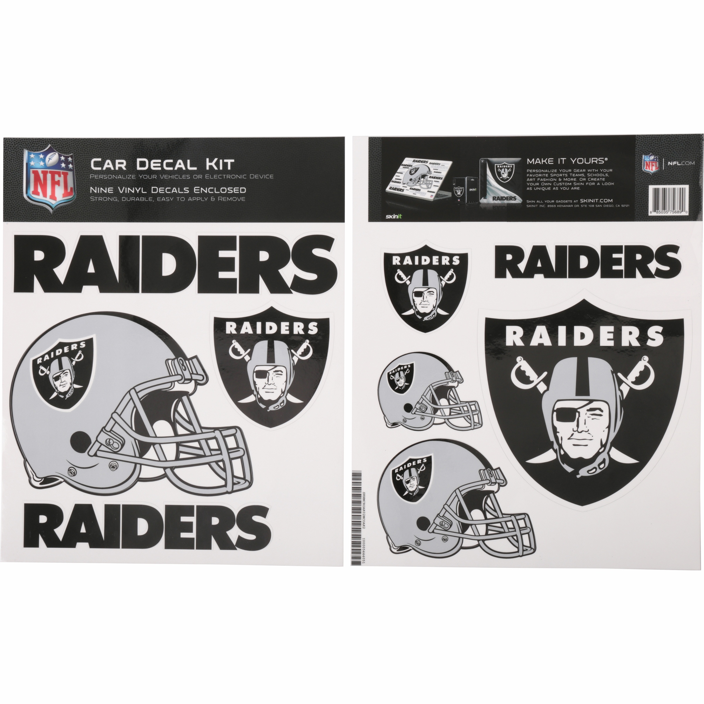 Skinit Oakland Raiders Car Decal Kit Walmart Com Walmart Com
