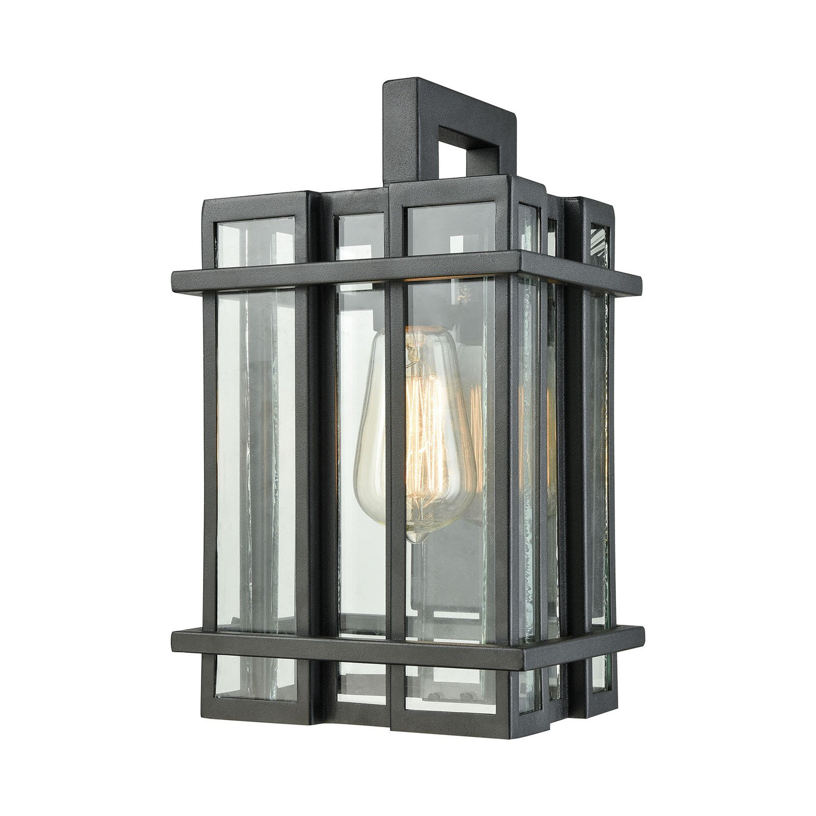 ELK Lighting Glass Tower 1 Light Outdoor Wall Sconce