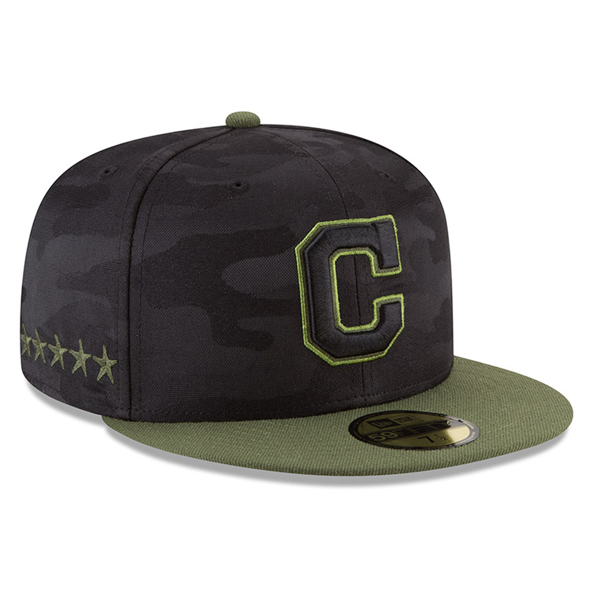 Cleveland Indians New Era 2018 Memorial Day On-Field 59FIFTY Fitted Hat - Black