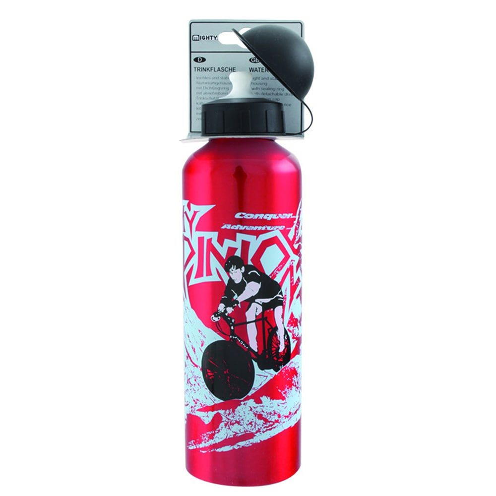750ml Water Bottle, Red Alloy