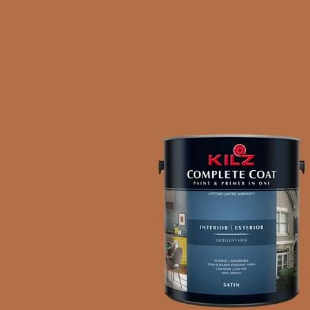 KILZ COMPLETE COAT Interior/Exterior Paint & Primer in One #LC110-02 Glazed Carrot