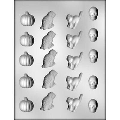Pumpkin, Owl, Cat, Skeleton Chocolate Mold - 90-3122 - Includes National Cake Supply Melting & Chocolate Molding Instructions