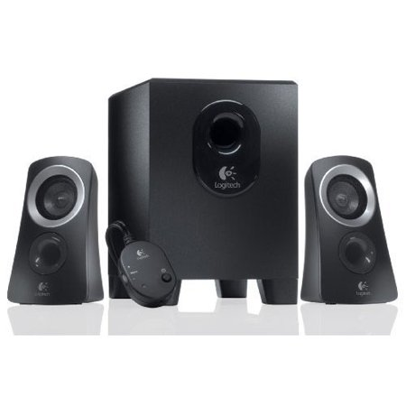 2 Piece Multimedia Speaker (Refurbished Logitech Z313 3 Piece 2.1 Channel Multimedia Speaker System - Black / Silver)