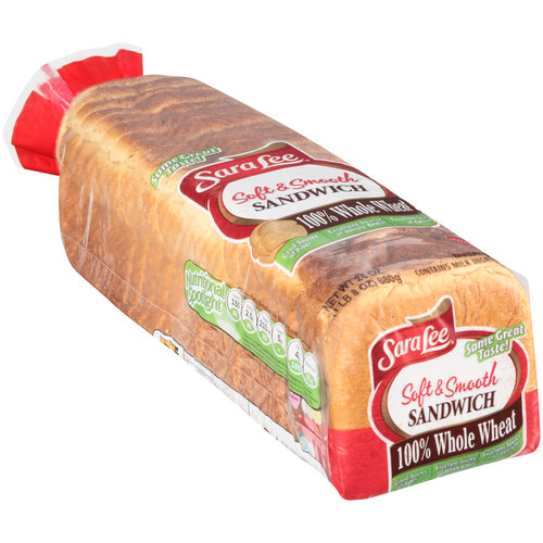 Sara Lee Soft & Smooth 100% Whole Wheat Sandwich Bread, 24 oz