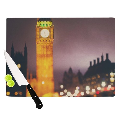 East Urban Home Westminster at Night by Laura Evans Cutting Board