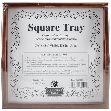 Mahogany Small Square Tray 10