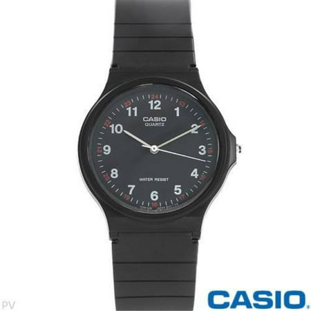 casio mq24-1b 3-hand analog water resistant watch ()