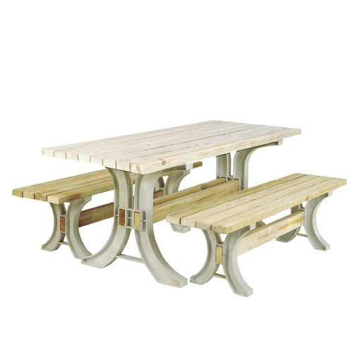 August Grove Pyramidale Plastic Picnic Table by