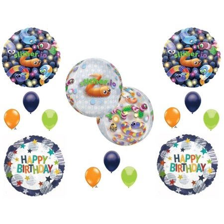Slither .io worm Game Happy Birthday Party Balloons Decoration Supplies Snake](Hunger Games Birthday Decorations)