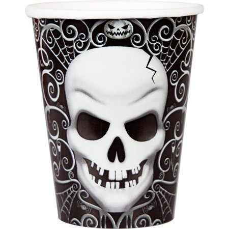 Fright Night 9 oz Cups (18 Count) - Halloween Party Supplies (Halloween Under 18 Parties London)
