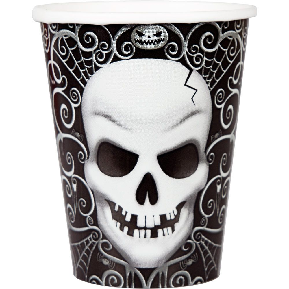 Fright Night 9 oz Cups (18 Count) - Halloween Party Supplies
