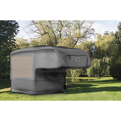 Camco UltraGuard 18' Slide-In Truck Camper Cover, Gray