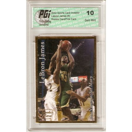 - LeBron James 2002 SCI Gold Foil Rookie Card PGI 10 His 1st Card Ever Made