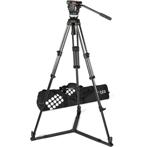 Sachtler Ace XL Tripod System with CF Legs and Ground Spreader
