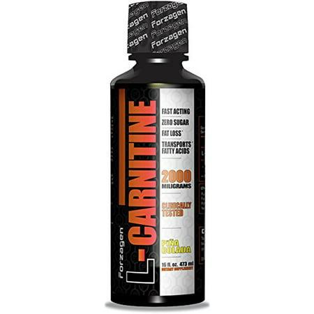 Forzagen L-Carnitine 100% Pure Carnitine Liquid formule (16 onces liquides, pina colada)