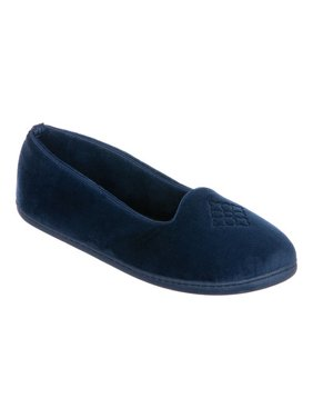 b7287548d9f8 Product Image Dearfoams Women s Microfiber Velour Closed Back Slippers