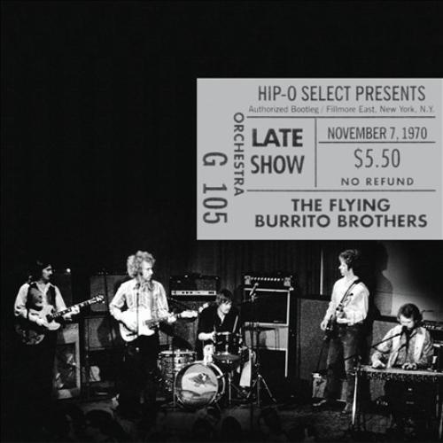 The Flying Burrito Brothers Authorized Bootleg: Fillmore East, New York, N.Y. - Late Show, November 7, 1970 CD - image 1 of 1