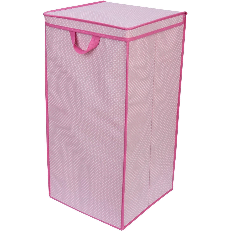Delta Children Tall Nursery Clothing Hamper Barely Pink Polka Dot