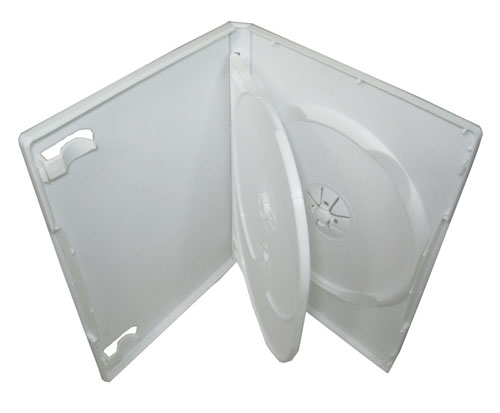 CheckOutStore 10 STANDARD White Triple 3 Disc DVD Cases by