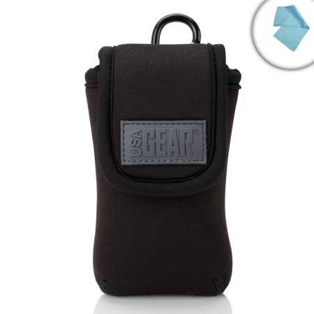 Universal Flip Phone Carrying Case with Belt Holster Clip by USA GEAR - Works with Kyocera DuraXV / DuraXA , Motorola RAZR , Samsung Convoy & More Cell