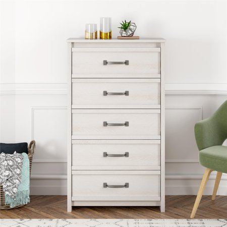 Better Homes & Gardens Rustic Ranch 5 Drawer Dresser, Ivory Oak