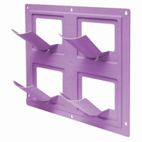 Bloomers Wall Flowers Vertical Gardening System – Create Gardens on Walls – Holds up to 4 Potted Plants – Orchid Purple