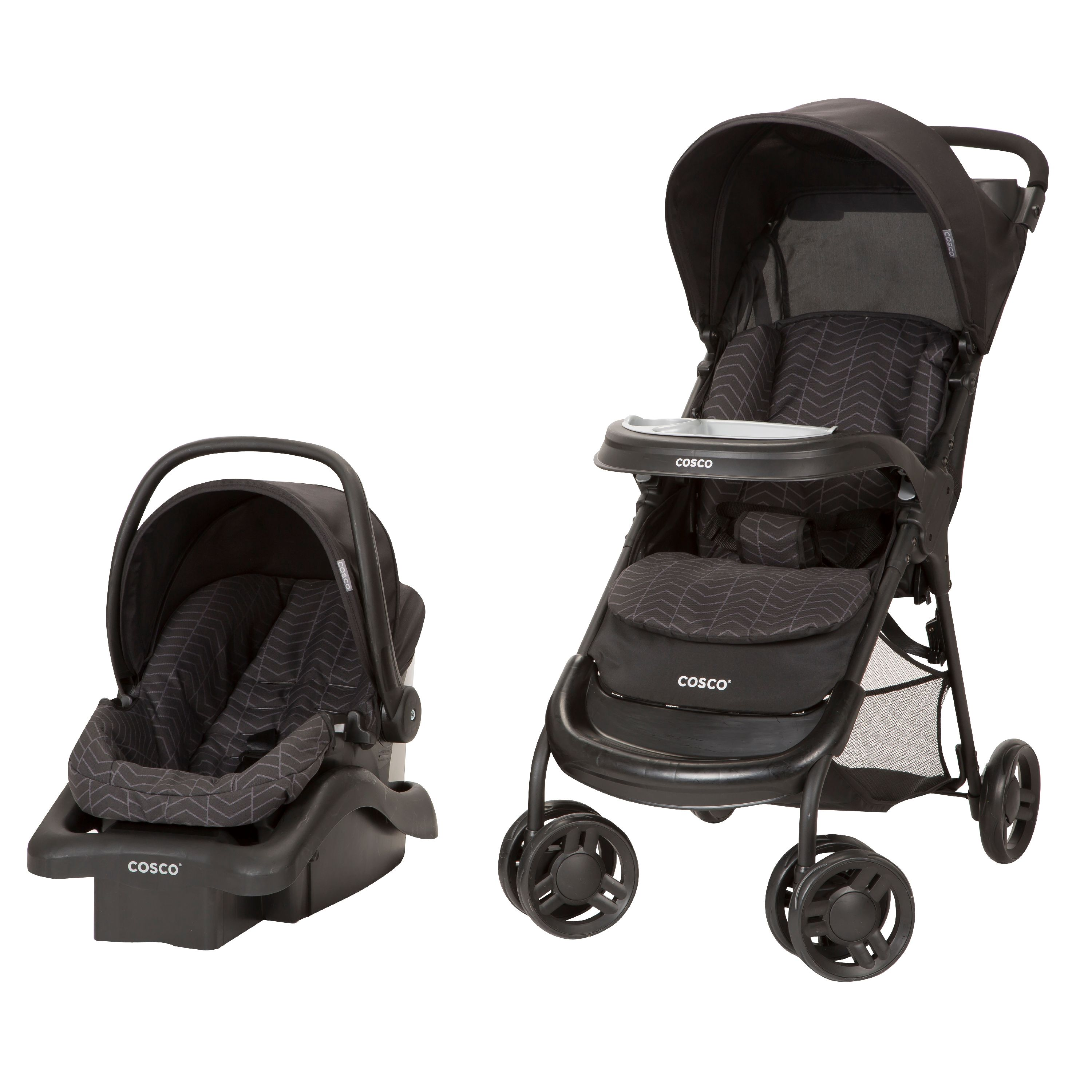 Cosco Lift & Stroll™ Plus Travel System, Black Arrows