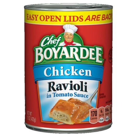 Chicken Pasta Tomatoes - (3 Pack) Chef Boyardee Chicken Ravioli Pasta in Tomato Sauce, 15 Oz.