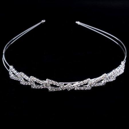 AkoaDa Diamond-encrusted Pearl Headband Fashion Elegant Rhinestone Double-layer Hairpin - Diamond Headband