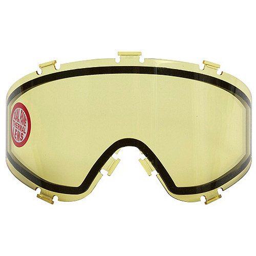 JT Spectra Replacement Thermal Lense For Paintball Mask / Goggles - Yellow