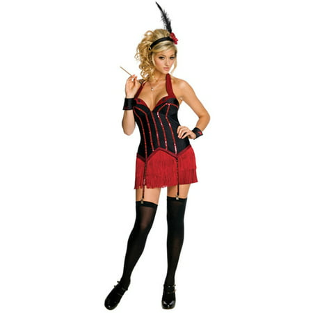 Licensed Playboy Flapper Girl Red Corset Sexy Womens Halloween Costume - Flapper Boy