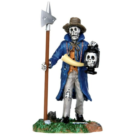 Lemax 32108 CREEPY NIGHT WATCHMAN Spooky Town Figure Halloween Decor Figurine - Lemax Halloween Train