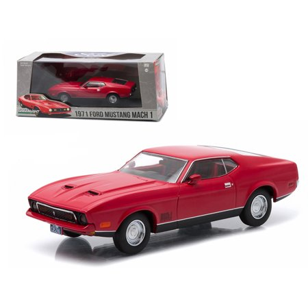 - 1971 Ford Mustang Mach 1 Red Greenlight Exclusive 1/43 Diecast Model Car by Greenlight